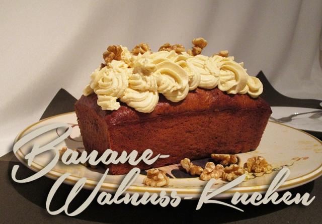 Banane-walnuss-Kuchen